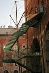 Milan,Escalier de secours: Architecte Marco Dezzi Bardeschi