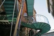 Milan,Escalier de secours: Architecte Marco Dezzi Bardeschi-4